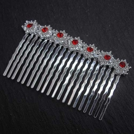 Red Shimmer Hair Comb