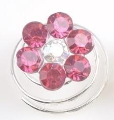 Roze Bloem Curlies 6 st