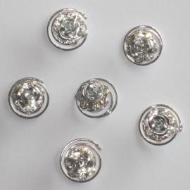 Zilveren Roos Curlies 6 st