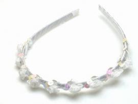 Witte Haarband bezet met Roosjes