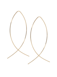 Ranke Lange Elipse Oorbellen (7.5 cm)