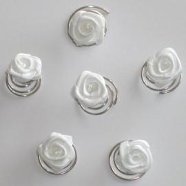 Witte Roos Curlies 6 st