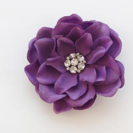 Haarbloem Gardenia met Fonkelend Hartje Paars