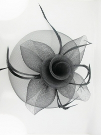 Swirl Fascinator Zwart