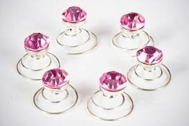 Fuchsia Roze Curlies