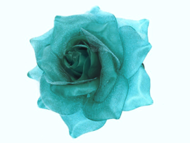 Turquoise Rose Hair Clip & Broche