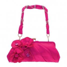 Roze Bloemen Avondtasje