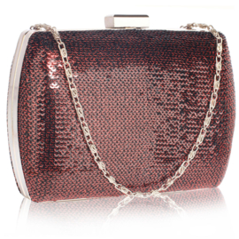 Pailletten Clutch Bordeaux