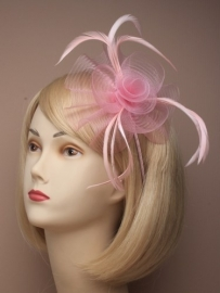 Swirl Fascinator Roze Haarband