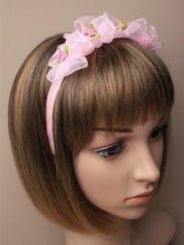 Licht Roze Rozen Haarband
