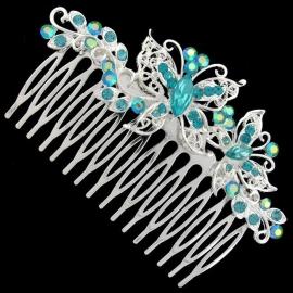 Aqua Vlinder Haarkam