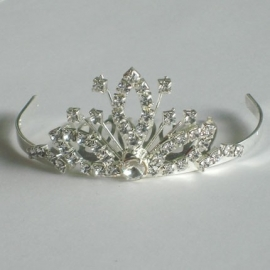 Silver Crown Tiara Kam