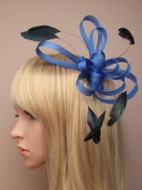Blauwe Fascinator