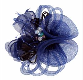 Kraaltjes Fascinator Donker Blauw