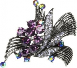Gunmetal Baroque Hair Clip & Broche