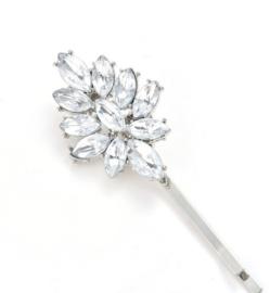Fonkelende Haarspelden Zilver 2 st