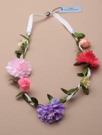 Witte Bloemen Haarband Lila/Fuchsia/Wit