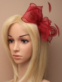 Bordeaux Rode Fascinator Haarband