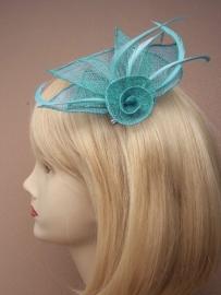 Donker Turquoise Sinamay Fascinator