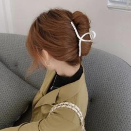 Moderne Metalen Haarklem Zilver