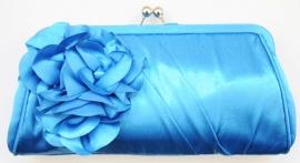 Blauw Bloemen Tasje