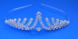 Silver Crystal Sunray Tiara