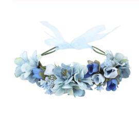 Grote Bloemenkrans Blauw