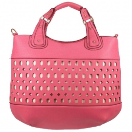 Fashion Bag Opengewerkt Roze