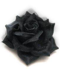 Black Rose Hair Clip & Broche