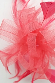 Watermeloen/Coral Fascinator