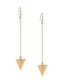 Lange oorhangers met driehoekje