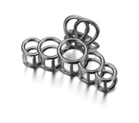Metalen Haarklem Cirkels Zwart