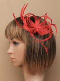 "Rode Sinamay ""Strik"" Fascinator"