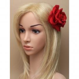 Grote Crimson Rode Roos Haarclip
