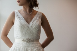 Sierlijke Bruids Ceintuur Wit