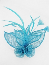 Turquoise Sinamay Fascinator