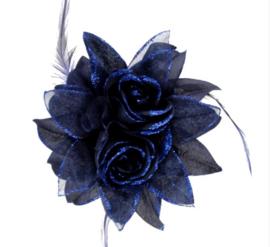 Haarbloem Donker Blauw