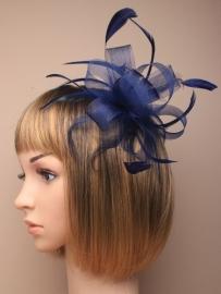 Fascinator Donker Blauw