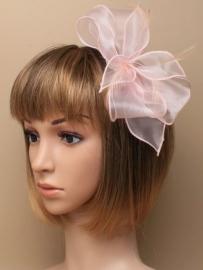 Zacht Roze Fascinator Haarband