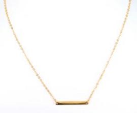 korte ketting met balkje (5cm) / goud