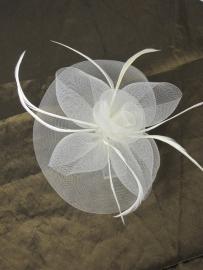 Swirl Fascinator Ivoor