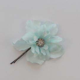 Kleine Haarbloem Licht Blauw met Fonkelend Hartje