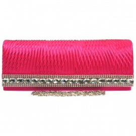 Hard Cased Clutch Fuchsia Roze