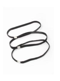 Zwarte Elastieken Haarband 3 stuks