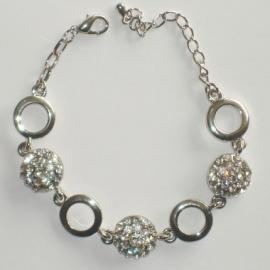 Zilvere Cirkels Armband