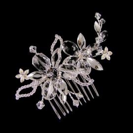 Kristallen Bloemen Haarkam