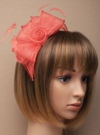 Sinamay Haarband Koraal