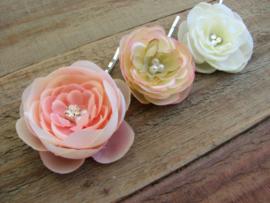Kleine Bloemen Peach 3 st