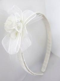 Kinder Haarband met Witte Roos