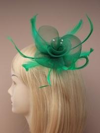 Groene Fascinator Haarclip